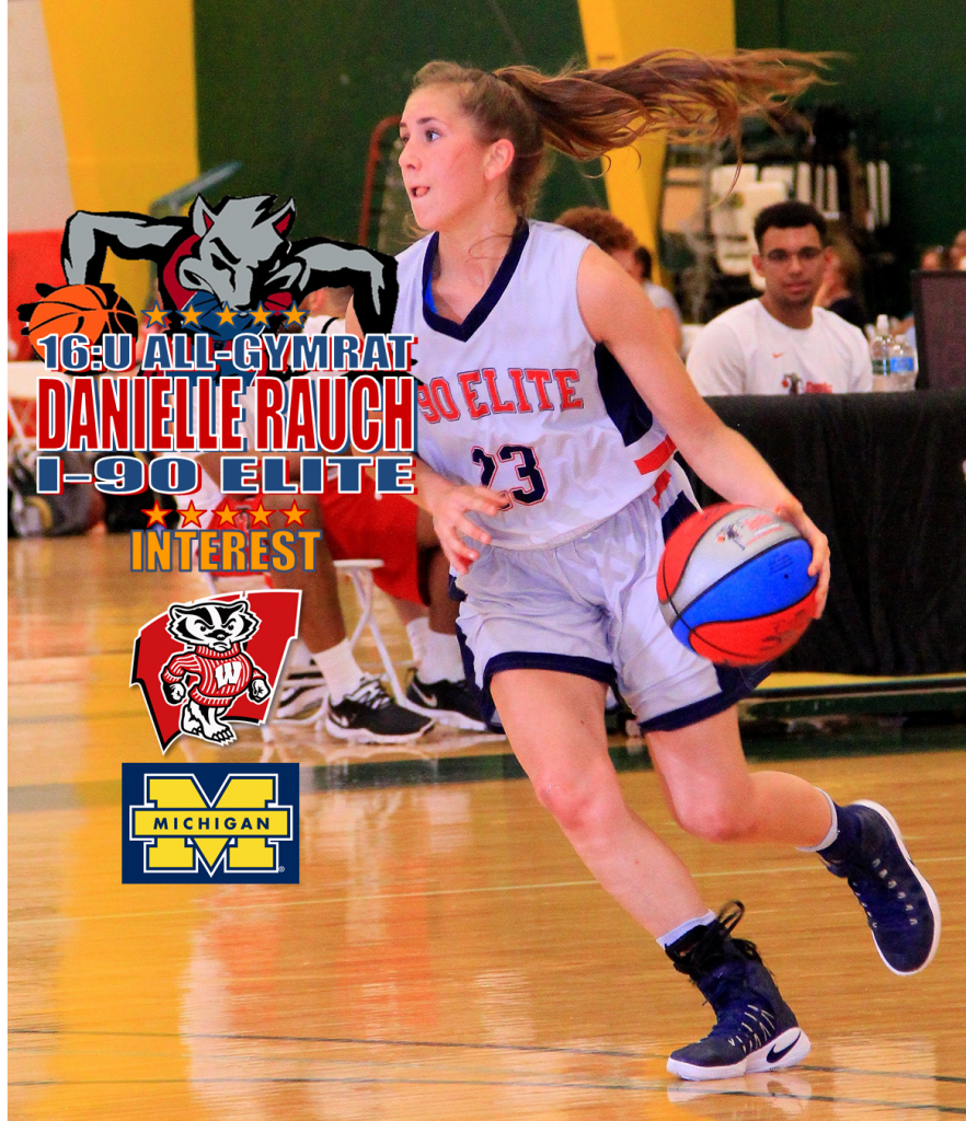 DANIELLE RAUCH-I-90 ELITE-16 ALL-LWISCONSIN-MICHIGAN