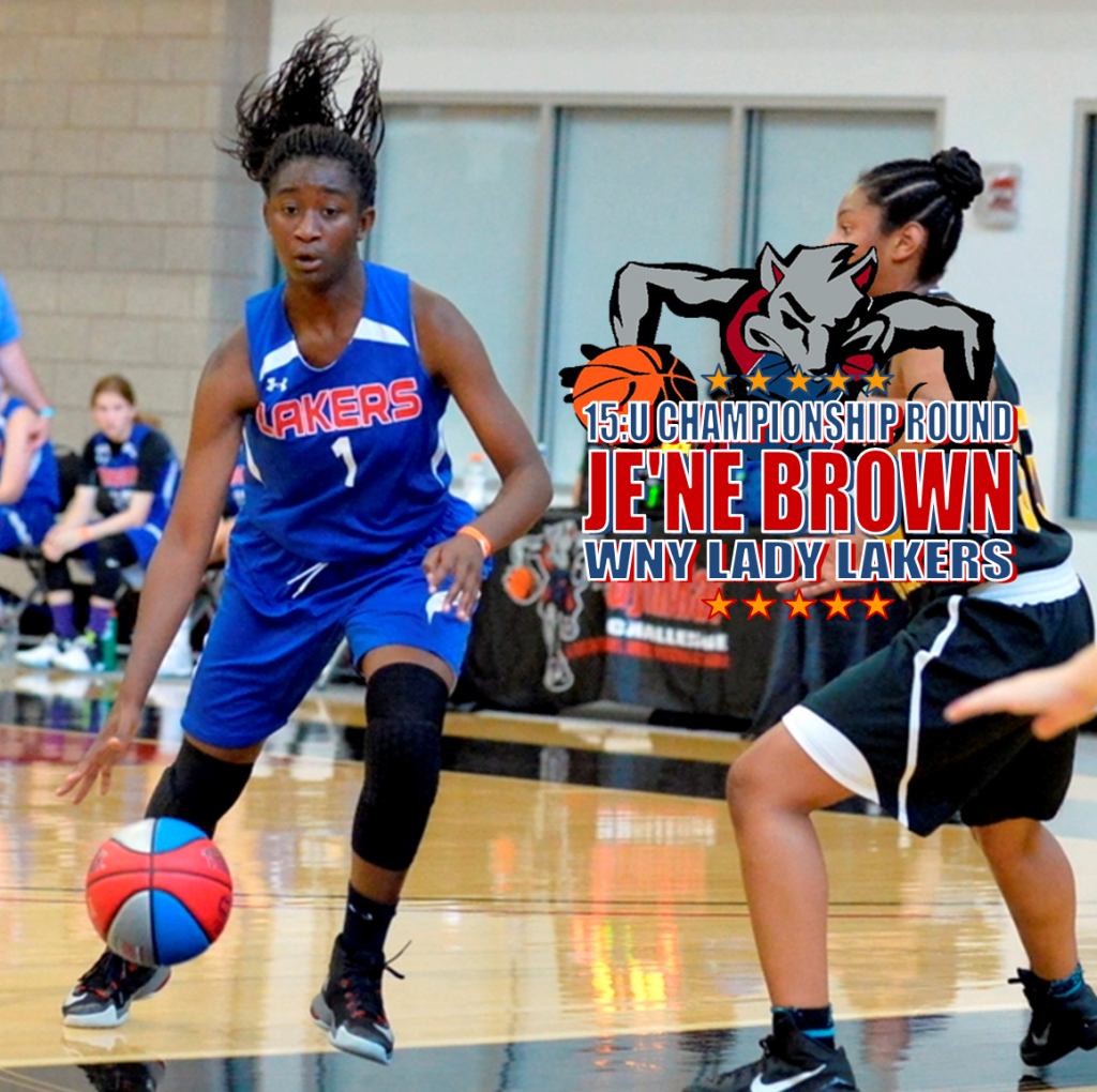 JE'NE BROWN-WNY LADY LAKERS-15-CHAMP RND
