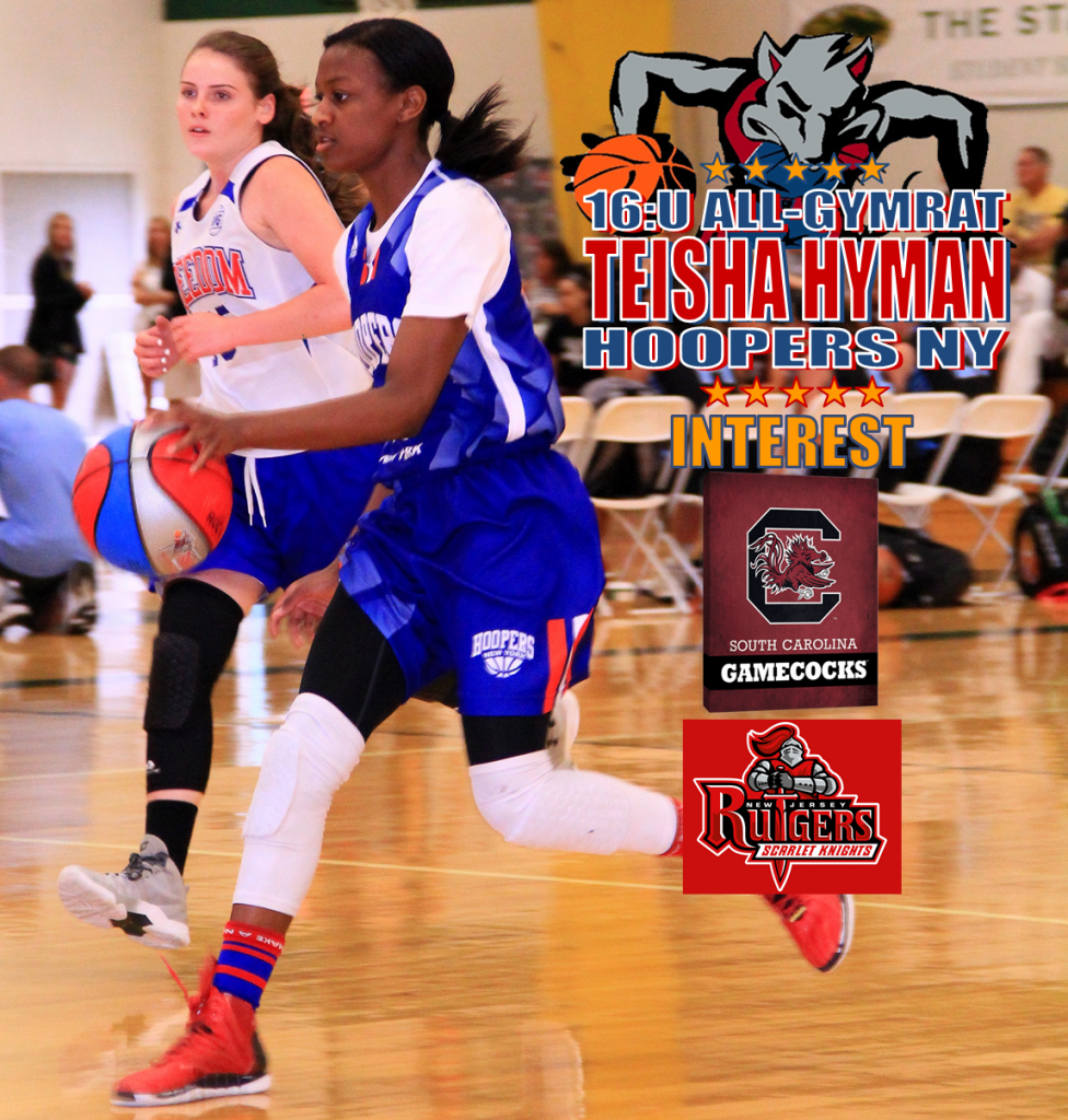 TEISHA HYMAN-HOOPERS NY-16U-ALL-SOUTH CAROLINA-RUTGERS